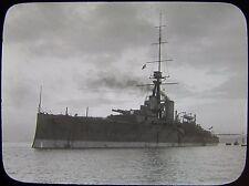 Glass Magic Lantern Slide HMS THUNDERER C1900 NAVY PHOTO BATTLESHIP