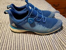 New listing Used Adidas Boost Forgefiber BOA Spikeless Men's Size 13 Golf Shoes. Blue