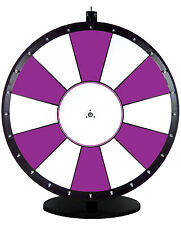 30 Inch Purple and White Portable Dry Erase Spinning Prize Wheel