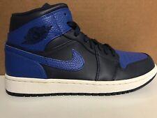 ed941905c34555 Nike Air Jordan 1 Mid Obsidian GameRoyal Leather US 7 554724-412 Men s