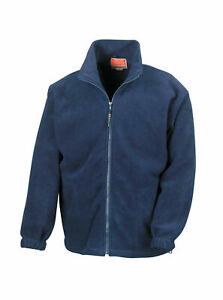 WARM FULL ZIP ACTIVE FLEECE JACKET COAT XL WOMENS MENS UNLINED(NAVY BLUE)