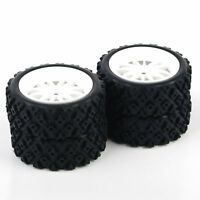For RC 1/10 Rally Racing Off Road Car PP0069+PP0487 4 Pcs Rubber Tires Wheel Rim