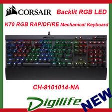 Corsair Gaming K70 RAPIDFIRE RGB Mechanical Keyboard Backlit LED Cherry MX Speed
