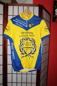 Vertretung Lancia- Fiat  Team  yellow cycling jersey size 5 ALY