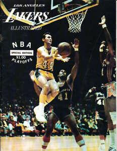 1970 los angeles Lakers Hawks NBA Playoff scored 80-86 Program NBA9