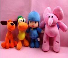 Set Of 4 Pcs Pocoyo Elly Pato Loula Soft Plush Stuffed Figure Toy Doll Xmas Gift