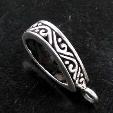 "Silver Design Bezel Component finding 3/8x5/8"" Bali Scroll 925 Sterling"