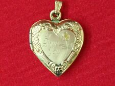 VINTAGE 14K GOLD HEART PICTURE LOCKET 2.1 GRAMS *VERY SWEET GIFT IDEA*