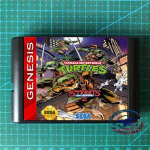 Teenage Mutant Ninja Turtles ☢ in Streets of Rage 2 For SEGA GENESIS Mega Drive