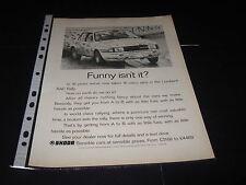 Skoda 130 RAC Lombard Rally Advert