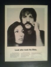 1971 Sonny Cher National Bible Week B & W Photo Music Memorabilia Art Ad