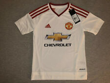 New Adidas Youth Small Manchester United Soccer Jersey Football Kids L Red White