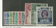 Burma, Postage Stamp, #O15-O24 Mint LH, 1939, JFZ