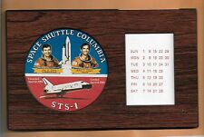 SHUTTLE COLUMBIA STS-1 YOUNG - CRIPPEN    PERMANENT CALENDAR VINTAGE  RARE