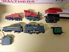 HO scale 3 locomotive repair  lot 2 steam 1 diesel  Santa Fe  ATSF  Pennsylvania