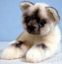 KOSEN Of Germany #6100 NEW Young Lying Birman Kitten/Cat Plush Toy Blue Eyes