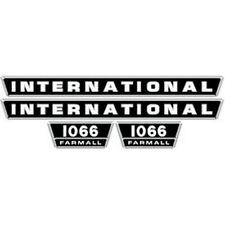 NEW 1066 INTERNATIONAL HARVESTER FARMALL TRACTOR HOOD DECAL KIT QUALITY VINYL