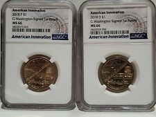 2018 P & D American Innovation - Washington Signed Dollar NGC MS-66 $1 coin