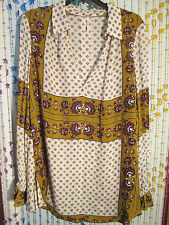 FREE PEOPLE blouse,color ash combo,size S,pretty tunic effect,comp.at $118.