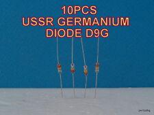 10 PCS D9G  Д9Г   USSR GERMANIUM DETECTOR DIODE 30V 30mA RARE