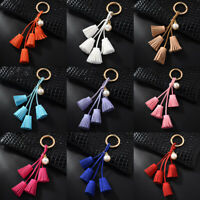 Women Tassel Keyring Bag pendant Car Ornaments Key Chain Charm