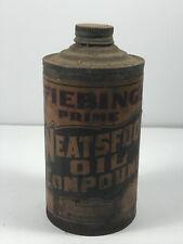 Antique Fiebing Neatsfoot Oil Advertising Can