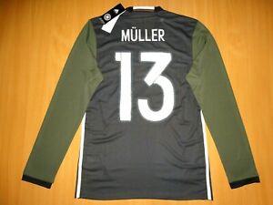 NEW Deutschland GERMANY #13 MULLER SHIRT 2016 2017 AWAY ADIZERO PLAYER LONG