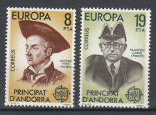 Briefmarken Europa Andorra (sp.. Post) CEPT ** 1980 Michel 131-132 Versand 0 EUR