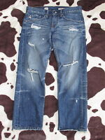 AG Adriano Goldschmied Ex-BoyFriend Crop 26 Denim Jeans 17 years Distressed