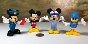 Disney Mechanic Policeman Mickey Mouse Donald Duck cake topper figures lot of 4