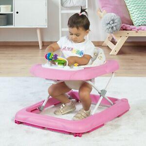 Dolu First Steps Baby Activity Adjustable Walker Bouncer Rocker Toy Car - Pink