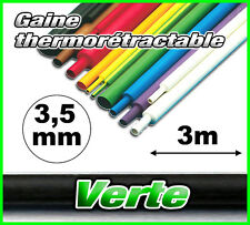 GV3.5-3# gaine thermorétractable verte 3,5mm 3m ratio 2/1  gaine thermo vert