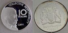 1980 Guyana Huge 45mm 1.3 OZ Sterling Silver Proof $10-Cuffy