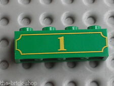 LEGO TOY STORY green brick 1x4 with 1 pattern / set 7597 Western Train Chase