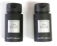 Bvlgari Black Body Lotion 40ml 1.33oz x2