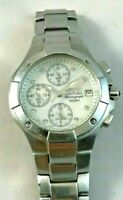 Seiko Contura Chronograph 7t62-OMEO R2 100M Watch Stainless Sapphire Crystal