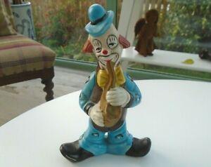 16cm Clown Playing Saxophone Vintage China Ornament Figurine Figure