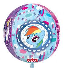 "My Little Pony arcoiris fiesta gama Amscan (cumpleaños/ Pancarta/ Globos/ 15"" Orbz Globo metalizado (am2981801)"