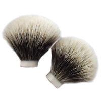 2 Pcs Finest Badger Hair Shaving Beard Clean Brush Head Knot Size 20mm Loft 50mm
