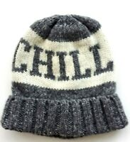 GAP Boys Hat Knitted Chill Knit Turn Up Winter Beanie Hat 6-9 y S/M Wolol Blend