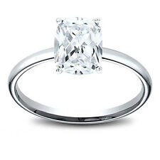 14K Gold 1.21 ct Cushion Cut Diamond Solitaire Engagement Ring I SI1