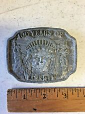 100th Anniversary Statue Of Liberty Belt Buckle