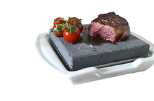 Hot Stone Cooking Steak on the Stone Hibachi Grill Lava Sizzling Plate