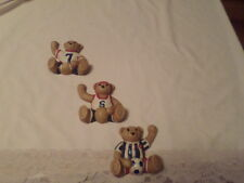 HOME INTERIOR HOMCO SET OF 3 SPORTS BEARS DECORATIONS