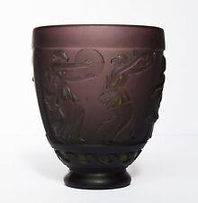 Glas Vase Glasvase Georges de Feure signiert um 1920 Antike Tänzerinnen