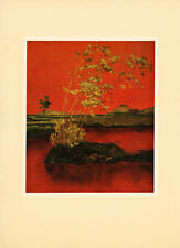 "1957 ""Bamboo"" Vietnam War Lacquer Painting Vintage Art Print"