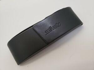 Silhouette Glasses Case Aluminum Flip Top With Magnetic Closure Dark Gray