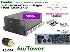 593g4e~ Combo APC Online SmartUPS 5000va SURTD5000XLT + XR Cabinet #NewBatts