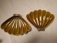 Vintage Ceramic Seashell Shaped Serving Dish Trays Plates California USA L70