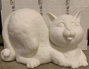 FAT CAT  CERAMIC BISQUE  U-PAINT FELINE KITTY CAT